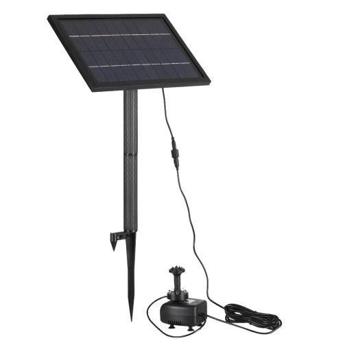 Anself 10V 5W Solar Powered Brushless Water Pump Built-in Storage Battery Submersible Pump Fountain Garden Pond 200L/H Lift 150cmHome &amp; Garden<br>Anself 10V 5W Solar Powered Brushless Water Pump Built-in Storage Battery Submersible Pump Fountain Garden Pond 200L/H Lift 150cm<br>