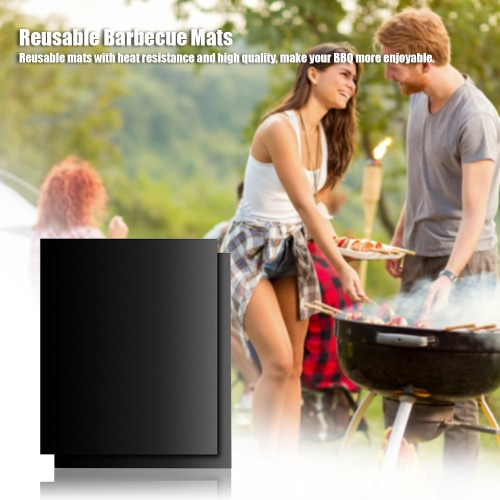 3Pcs Grilling Sheets Nonstick BBQ Grill Reusable Barbecue Mats for Electric Gas Grills Heat ResistanceHome &amp; Garden<br>3Pcs Grilling Sheets Nonstick BBQ Grill Reusable Barbecue Mats for Electric Gas Grills Heat Resistance<br>