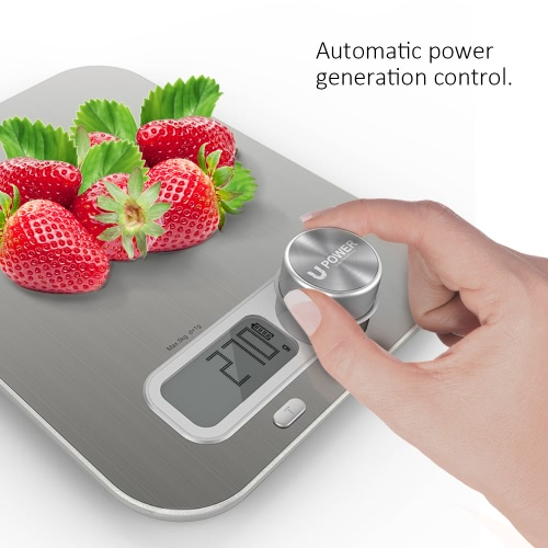 Homgeek Battery Free Kitchen Scale with Large LCD Display Scales Wind-up Mini Scale Accurate Digital Kitchen ScalesHome &amp; Garden<br>Homgeek Battery Free Kitchen Scale with Large LCD Display Scales Wind-up Mini Scale Accurate Digital Kitchen Scales<br>