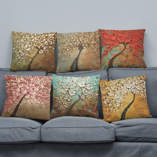 Simple Fashionable Bright Colorful Red White Purple Pink Golden Flowers Trees Leaves Images Impressionism Pastoral Life Oil PaintiHome &amp; Garden<br>Simple Fashionable Bright Colorful Red White Purple Pink Golden Flowers Trees Leaves Images Impressionism Pastoral Life Oil Painti<br>
