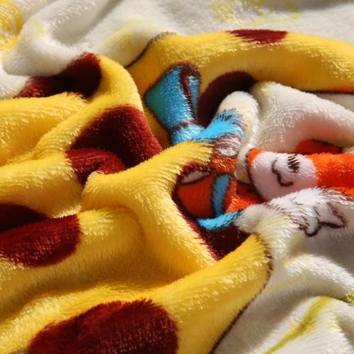 Flannel Polar-fleece Blanket of High Quality Polyester Fiber Soft and Warm 200g/©O