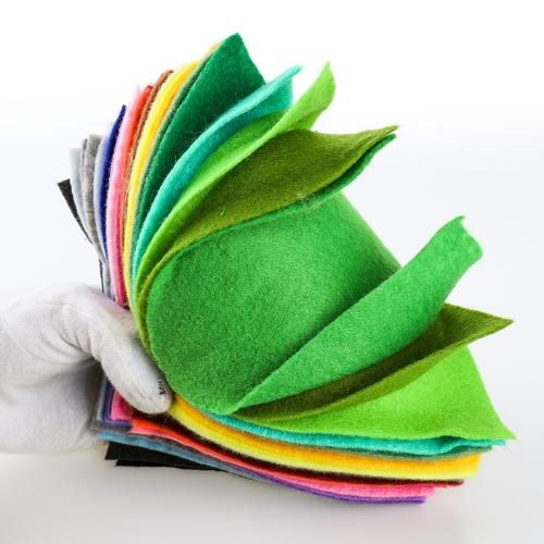 42 pcs Colors Felt Fabric Sheet Assorted Color DIY Craft Squares Nonwoven 1.4mm ThickHome &amp; Garden<br>42 pcs Colors Felt Fabric Sheet Assorted Color DIY Craft Squares Nonwoven 1.4mm Thick<br>