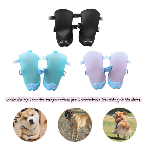 DJJ FOKWOW F301 New Portable Little Pet Dog Puppy Waterproof Soft Rubber Shoes Boots Rain Shoes 4 Pieces/SetHome &amp; Garden<br>DJJ FOKWOW F301 New Portable Little Pet Dog Puppy Waterproof Soft Rubber Shoes Boots Rain Shoes 4 Pieces/Set<br>