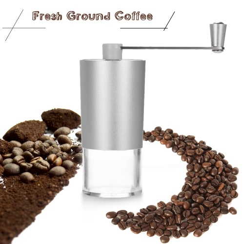Portable Manual Coffee Bean Grinder Mill with Brush and Spoon Kitchen Grinding Tool