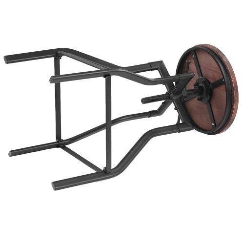 iKayaa Height Adjustable Swivel Bar Stool Industrial Style Natural Pinewood Top + Metal Kitchen Dining ChairHome &amp; Garden<br>iKayaa Height Adjustable Swivel Bar Stool Industrial Style Natural Pinewood Top + Metal Kitchen Dining Chair<br>