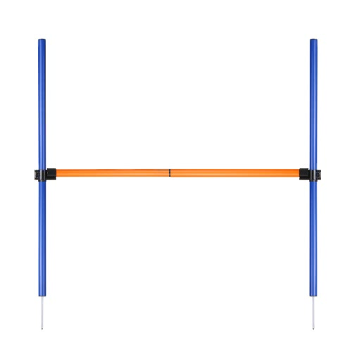 Outdoor Pet Dog Agility Sports Games Training Equipment Dogs Jump Hurdle Bar Obedience Show Activity Agility Exercise Pole Set with Carrying Case