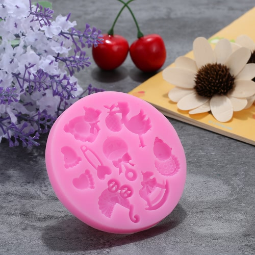 Baby Shower Theme Carriage Silicone Tray Ice Cube and Candy Mold Feet Soap Chocolate Cake Cookie Pudding Jelly Molds Baking DecoraHome &amp; Garden<br>Baby Shower Theme Carriage Silicone Tray Ice Cube and Candy Mold Feet Soap Chocolate Cake Cookie Pudding Jelly Molds Baking Decora<br>