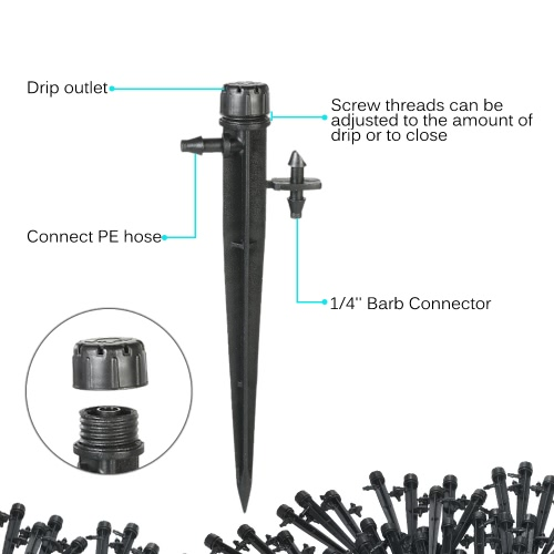 50pcs 360 Degree Adjustable  Drippers Water Flow Irrigation on Stake Emitter Drip SystemHome &amp; Garden<br>50pcs 360 Degree Adjustable  Drippers Water Flow Irrigation on Stake Emitter Drip System<br>