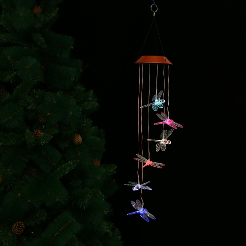 Color-Changing LED Solar Mobile Wind Chime Pathonor Changing Light Color Waterproof Six Hummingbird Wind Chimes For Home/ Party/ NHome &amp; Garden<br>Color-Changing LED Solar Mobile Wind Chime Pathonor Changing Light Color Waterproof Six Hummingbird Wind Chimes For Home/ Party/ N<br>