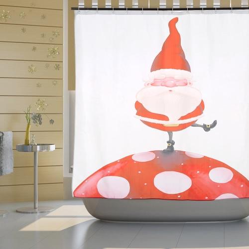 72 * 72 Christmas Santa Bathroom Curtain Polyester Waterproof Mildewproof Shower Curtain with 12pcs Ring Hooks Christmas DecoratHome &amp; Garden<br>72 * 72 Christmas Santa Bathroom Curtain Polyester Waterproof Mildewproof Shower Curtain with 12pcs Ring Hooks Christmas Decorat<br>