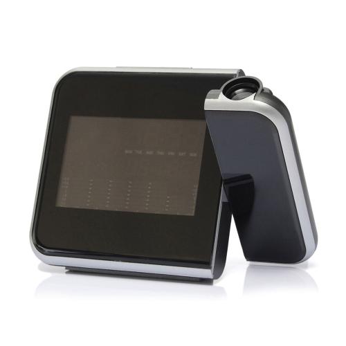 Digital Wall Projection الطقس شاشة LCD غفوة التنبيه المزدوج ليزر للتدوير على مدار الساعة