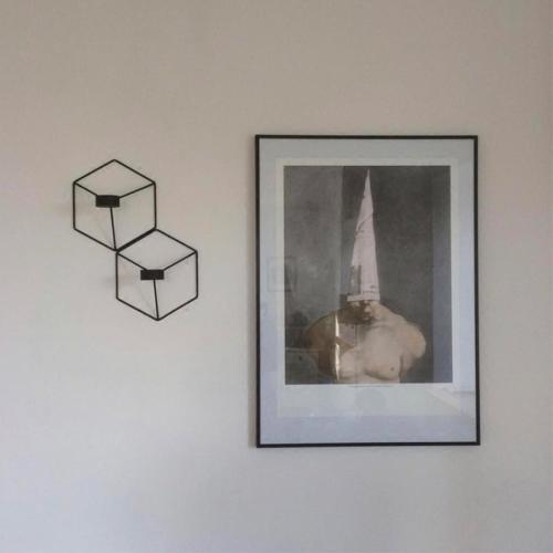 Art 3D Geometric Candlestick Metal Wall Candle Holder Living Room TV Ark DecorationHome &amp; Garden<br>Art 3D Geometric Candlestick Metal Wall Candle Holder Living Room TV Ark Decoration<br>