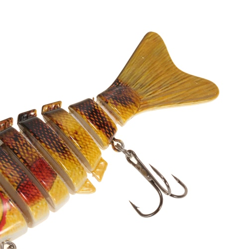 Lixada 100mm 13g 3.9 7 Segments Multi-Jointed Hard Fishing Lure Life-like Swimbait Crank Bait 2 Treble VMC HooksSports &amp; Outdoor<br>Lixada 100mm 13g 3.9 7 Segments Multi-Jointed Hard Fishing Lure Life-like Swimbait Crank Bait 2 Treble VMC Hooks<br>