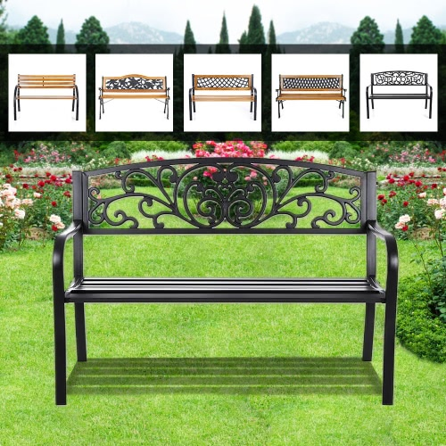 iKayaa 50 Cast Iron OutdIKAYAA 50 Cast Iron Outdoor Patio Bench Garden Chair Metal Deck Path Lawn Seat Chairoor Patio Park GardeHome &amp; Garden<br>iKayaa 50 Cast Iron OutdIKAYAA 50 Cast Iron Outdoor Patio Bench Garden Chair Metal Deck Path Lawn Seat Chairoor Patio Park Garde<br>