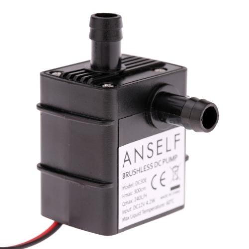 Anself ультра-тихий мини-DC12V 4,2 Вт микро безщеточный нефть насос водонепроницаемый погружной фонтан аквариума циркулирующих 240 Л/Ч подъемника 300 см