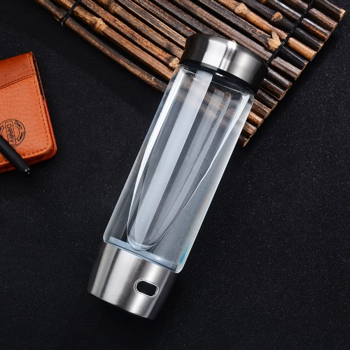 550ml Large Capacity Hydrogen Rich Water Bottle High Quality Transparent Water Glass with Lid Portable BPA-free High-end BusinessHome &amp; Garden<br>550ml Large Capacity Hydrogen Rich Water Bottle High Quality Transparent Water Glass with Lid Portable BPA-free High-end Business<br>