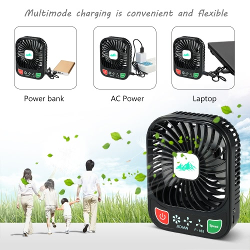 Handy Brushless Mini Fan USB Rechargeable 3 Controllable Speed and LED Light Desk FanHome &amp; Garden<br>Handy Brushless Mini Fan USB Rechargeable 3 Controllable Speed and LED Light Desk Fan<br>
