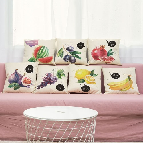 Simple Modern High-quality Watermelon Olives Grapes Fig Guava Lemon Banana Pastoral Fresh Fruit Style Colorful Bright Printed LineHome &amp; Garden<br>Simple Modern High-quality Watermelon Olives Grapes Fig Guava Lemon Banana Pastoral Fresh Fruit Style Colorful Bright Printed Line<br>