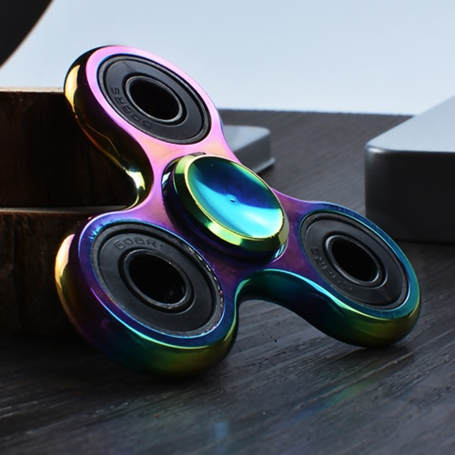 Rainbow Color Colorful ABS Hand Fidget Desk Spin Toy Tabletop Spinner Anti-Anxiety 360° Tri Triangle Focusing EDC Toy Focus for KiHome &amp; Garden<br>Rainbow Color Colorful ABS Hand Fidget Desk Spin Toy Tabletop Spinner Anti-Anxiety 360° Tri Triangle Focusing EDC Toy Focus for Ki<br>
