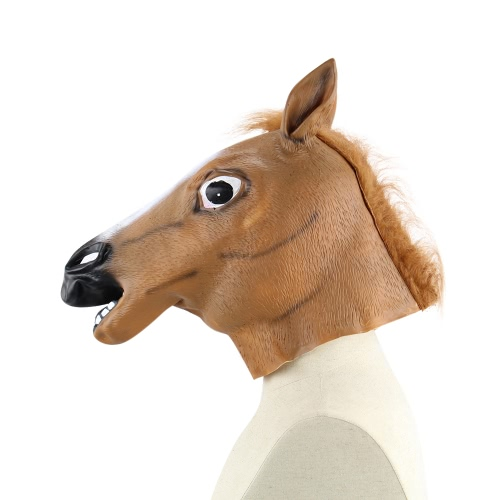 Vinyl Realistic Horse Head Mask Full Head Novelty Animal Masks for Halloween Cosplay Costume School ShowHome &amp; Garden<br>Vinyl Realistic Horse Head Mask Full Head Novelty Animal Masks for Halloween Cosplay Costume School Show<br>
