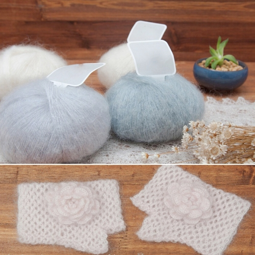 One Skein Mohair Hand Knitting Soft Yarn Fingering Baby Fine Wool Crochet Threads Scarf  Delicate Smooth Women Baby Clothes StyleHome &amp; Garden<br>One Skein Mohair Hand Knitting Soft Yarn Fingering Baby Fine Wool Crochet Threads Scarf  Delicate Smooth Women Baby Clothes Style<br>