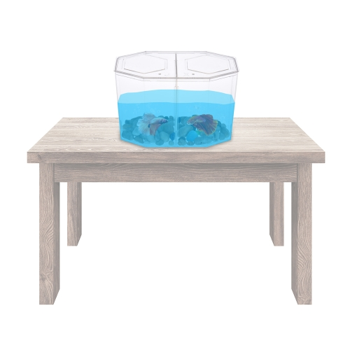 Small Fish Tank Aquarium Betta Box Breeder House with Divider Acrylic TransparentHome &amp; Garden<br>Small Fish Tank Aquarium Betta Box Breeder House with Divider Acrylic Transparent<br>