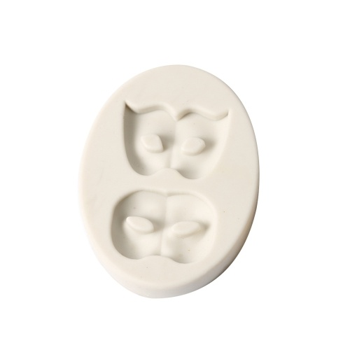 1 Pcs Party 2 Masks Silicone Fondant Mold Chocolate Molds for Cake Decorating Sugarcraft Resin Polymer Clay