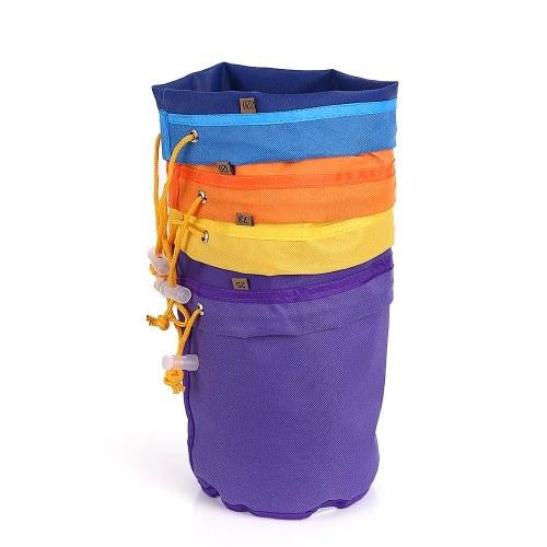 4pcs / set Bolso de filtro de 1 galón Bolso de burbuja Kit de extracto de esencia de hielo herbal Conjunto de 4pcs Bolso de micrón Bolsas de cordón Bolsas de extracción con pantalla de presión y bolsa de transporte