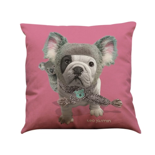 Simple Fashion Bulldog Pug Dog Animal Pillowcase Linen Throw Pillow Covers Decorative for Home Office Car Bed Sofa GiftHome &amp; Garden<br>Simple Fashion Bulldog Pug Dog Animal Pillowcase Linen Throw Pillow Covers Decorative for Home Office Car Bed Sofa Gift<br>