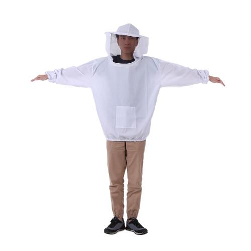 Белая плетеная куртка для салата для пчеловодства