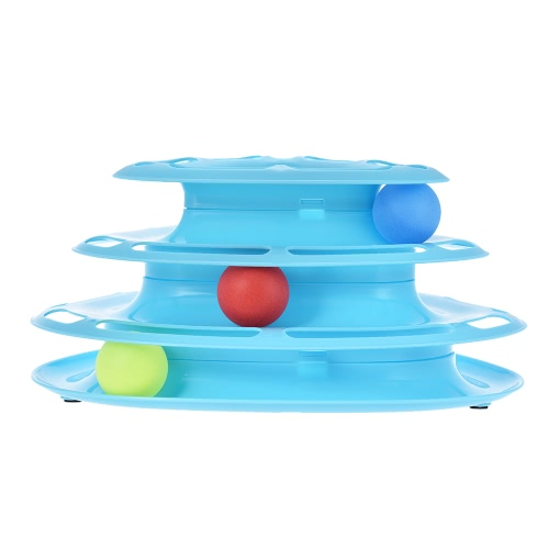 Pet Educational Three Levers Tower of Tracks Interactive Cat Toys with Scratching Balls Amusement Plate for KittysHome &amp; Garden<br>Pet Educational Three Levers Tower of Tracks Interactive Cat Toys with Scratching Balls Amusement Plate for Kittys<br>