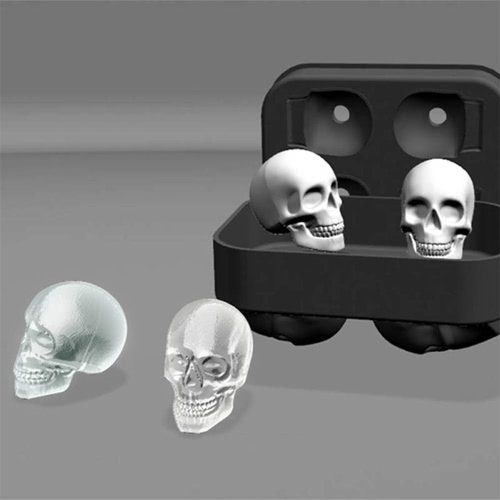Home Ice Cube Three-dimensional 4 Square Skull Silicone Cake Chocolate Mold Ice cube Tray Mold Party Kitchen Baking ToolHome &amp; Garden<br>Home Ice Cube Three-dimensional 4 Square Skull Silicone Cake Chocolate Mold Ice cube Tray Mold Party Kitchen Baking Tool<br>
