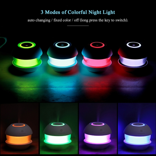 150ml Mini Mosaic USB Ultrasonic Mist Air Humidifier Diffuser Mist Maker with Timing Function Colorful Night Light--BlackHome &amp; Garden<br>150ml Mini Mosaic USB Ultrasonic Mist Air Humidifier Diffuser Mist Maker with Timing Function Colorful Night Light--Black<br>