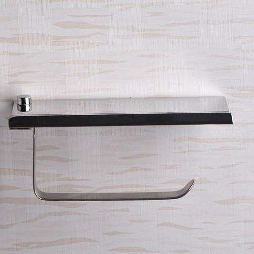 الفولاذ المقاوم للصدأ جدار جبل الهاتف المحمول ورقة منشفة رف بسيط حامل ورق التواليت الحمام مربع