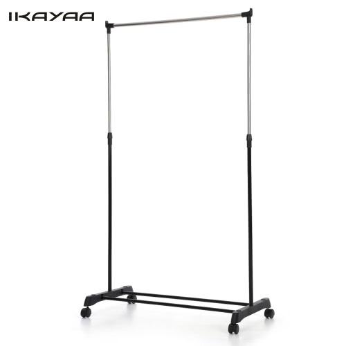 2PCS IKayaa معدن قابل للتعديل معطف الملابس الملابس المتداول شنقا رف