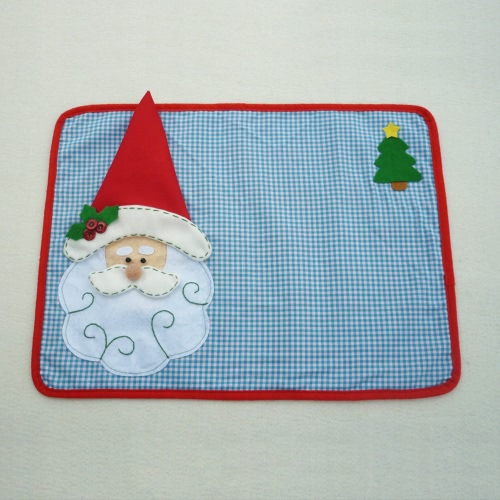 Festnight Father Christmas Dining Mat High Quality Santa Clause Table Mat Soft Double Layer Place Mat for Christmas with NapkinHome &amp; Garden<br>Festnight Father Christmas Dining Mat High Quality Santa Clause Table Mat Soft Double Layer Place Mat for Christmas with Napkin<br>