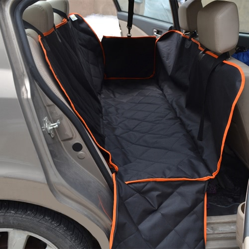 Anself Luxury Hammock Pet Car Seat Cover Waterproof Non-skid Dog Cat Seat Covers with Orange Brim and 2 Side Flaps for Cars TrucksHome &amp; Garden<br>Anself Luxury Hammock Pet Car Seat Cover Waterproof Non-skid Dog Cat Seat Covers with Orange Brim and 2 Side Flaps for Cars Trucks<br>