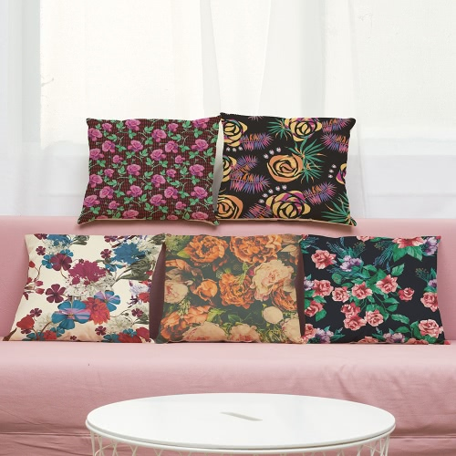 Fashion High Quality Colorful Linen Flowers Multi-colors Red Roses Green Grass Leaves Decorative Square Printed Throw Pillow CasesHome &amp; Garden<br>Fashion High Quality Colorful Linen Flowers Multi-colors Red Roses Green Grass Leaves Decorative Square Printed Throw Pillow Cases<br>