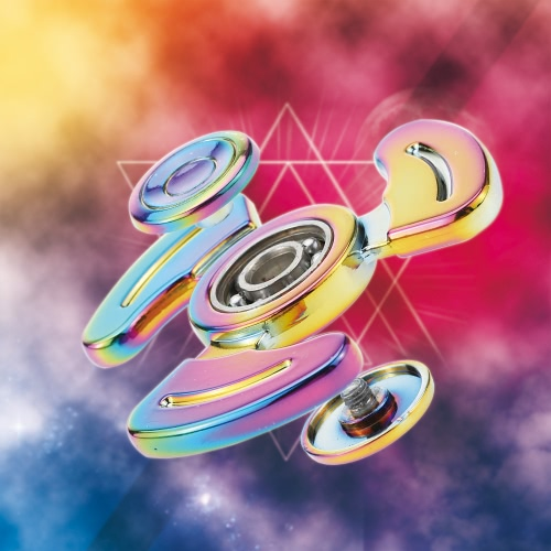 Rainbow Mental Spinner High Speed Fidget Finger Hand Toy for Adults Kids help Anti-Anxiety Focusing Quitting Bad Habits with StoraHome &amp; Garden<br>Rainbow Mental Spinner High Speed Fidget Finger Hand Toy for Adults Kids help Anti-Anxiety Focusing Quitting Bad Habits with Stora<br>