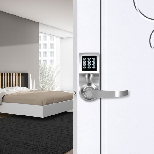 4-in-1 Electronic Keyless Keypad Door Coded Lock Unlocked by Password + RF Card + Remote Control + Mechanical Key Home SecurityHome &amp; Garden<br>4-in-1 Electronic Keyless Keypad Door Coded Lock Unlocked by Password + RF Card + Remote Control + Mechanical Key Home Security<br>