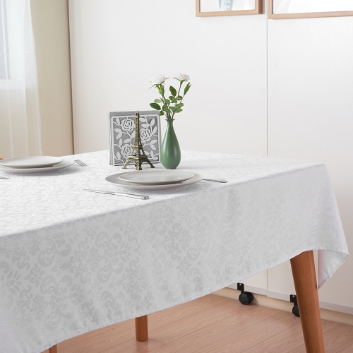 Htovila 87 * 55 White Rectangle Dinner Tablecloth Polyester Thick Table Linen Cover Cloth for Wedding Party Home Festivals EventHome &amp; Garden<br>Htovila 87 * 55 White Rectangle Dinner Tablecloth Polyester Thick Table Linen Cover Cloth for Wedding Party Home Festivals Event<br>