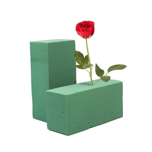 Tijolo floral verde padrão da espuma da flor do florista do casamento da flor fresca do tijolo da espuma bloco