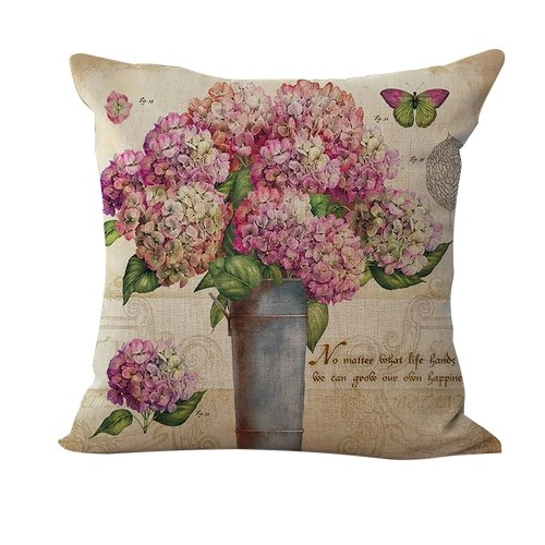 18 * 18 inches / 45 * 45cm Polyester Romantic Flower Pattern Cushion Cover Decorative