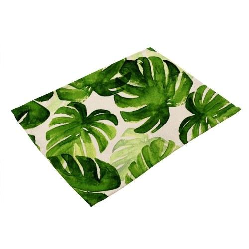 النباتات الخضراء المطبوعة البوليستر تحديد الموقع