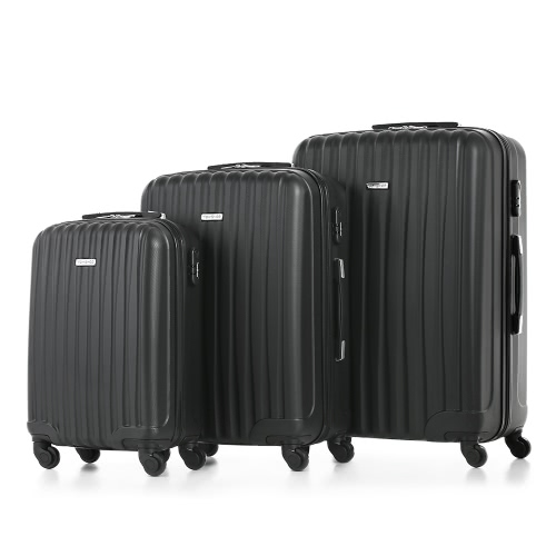 TOMSHOO 3 Piece Luggage Set-BlackSports &amp; Outdoor<br>TOMSHOO 3 Piece Luggage Set-Black<br>