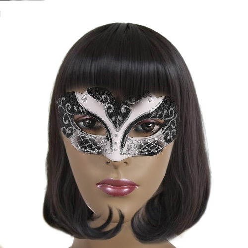 Festnight Sexy Plastic Phantom Half Mask Halloween Masquerade Ball Mask with Glitter DecorationHome &amp; Garden<br>Festnight Sexy Plastic Phantom Half Mask Halloween Masquerade Ball Mask with Glitter Decoration<br>