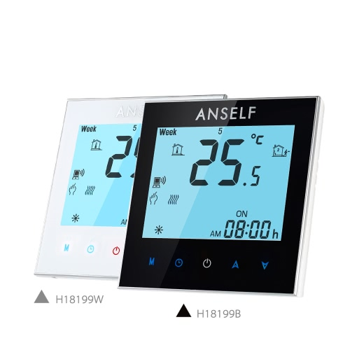 Anself 16A 110~240V Electric Heating Energy Saving WIFI Smart Thermostat with Touchscreen LCD Display Durable Programmable TemperaHome &amp; Garden<br>Anself 16A 110~240V Electric Heating Energy Saving WIFI Smart Thermostat with Touchscreen LCD Display Durable Programmable Tempera<br>