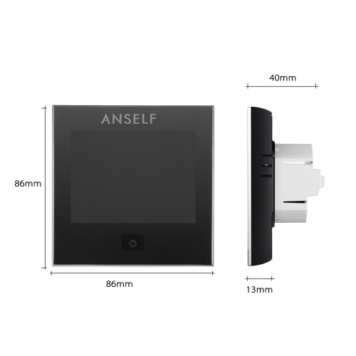 Anself 110~240V Air Conditioner Thermostat with LCD Display Good Quality Touch Screen Programmable Room Temperature Controller HomHome &amp; Garden<br>Anself 110~240V Air Conditioner Thermostat with LCD Display Good Quality Touch Screen Programmable Room Temperature Controller Hom<br>
