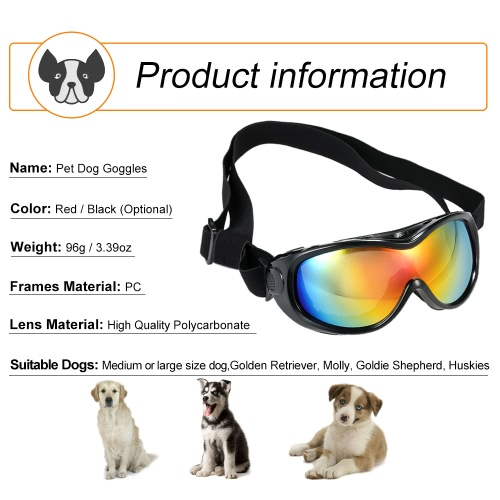 New Pet Goggles Large Dog Anti-Fog Anti-wind Glasses Eye Protector Waterproof Sunglasses Skiing Sun UV Protection Safety Goggles wHome &amp; Garden<br>New Pet Goggles Large Dog Anti-Fog Anti-wind Glasses Eye Protector Waterproof Sunglasses Skiing Sun UV Protection Safety Goggles w<br>