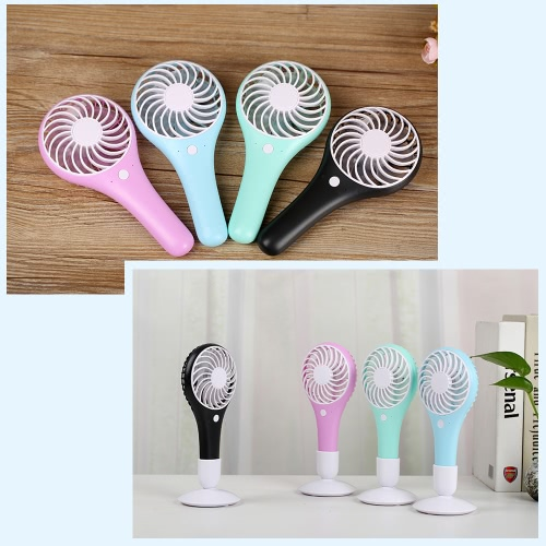 Portable USB Rechargeable Mini Fan with Base Station Air Cooler 2 Speed Adjustable for Office Home Travel UseHome &amp; Garden<br>Portable USB Rechargeable Mini Fan with Base Station Air Cooler 2 Speed Adjustable for Office Home Travel Use<br>